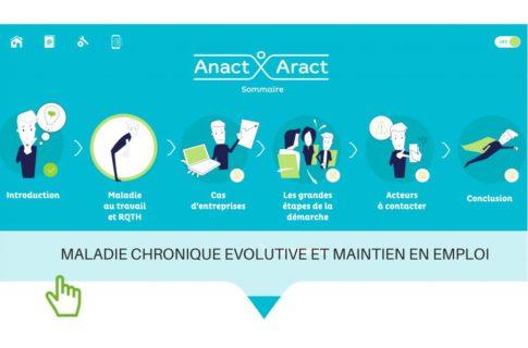 Maladie chronique évolutive et maintien dans l'emploi : dispositif de e-learning